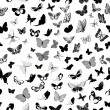Butterfly seamless background — Stock Vector #13349190