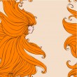 Girl with beautiful hair seamless — Vector de stock #13349216