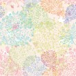 Stockvector : Doodle seamless floral background