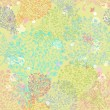 Doodle seamless floral background — Stock vektor