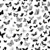 Butterfly seamless background — Stockvektor