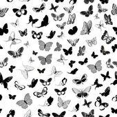 Schmetterling nahtlose hintergrund — Stockvektor