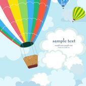 šťastný horkovzdušný balón — Stock vektor