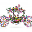 Vintage floral carriage — Stock Vector #14331695