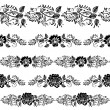 Vector de stock : Floral border set
