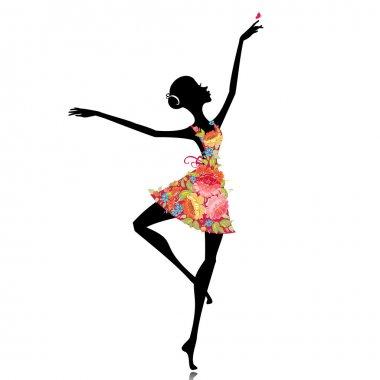 Ballerina in a flower dress