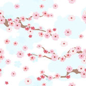 Cherry blossoms background seamless — Stock Vector