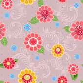 Texture seamless flowers — Stockvector