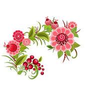 Floral design style Khokhloma — Stock Vector