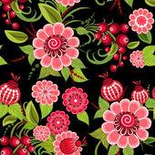 Khokhloma floral seamless — Stock Vector