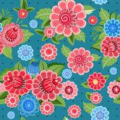 テクスチャのシームレスな花 — ストックベクタ