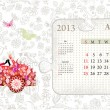 Royalty-Free Stock Vector Image: Calendar for 2013, august
