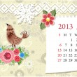 Vettoriale Stock : Calendar for 2013, january