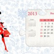 Calendar for 2013, december — Stockvectorbeeld