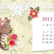 Vettoriale Stock : Calendar for 2013, october