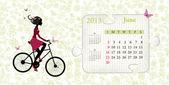 Calendar for 2013, june — Stock Vector
