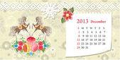 Calendar for 2013, december — Stock Vector
