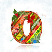 Christmas Art handmade figure 0 — Stock Vector