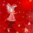 Christmas fairy for your design — Stock Vector