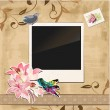 Stock Vector: Scrapbook template