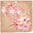 Vintage background with lilies — Stock Vector #17877611