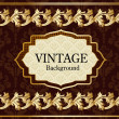 Vintage background with gold — Stock Vector