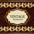 Vintage background with gold — Stock Vector #17878067