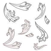 барочные элементы дизайна — Cтоковый вектор