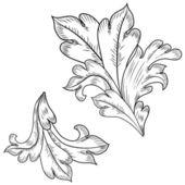 Elementos de diseño barroco — Vector de stock