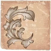 Baroque design grunge — Stock Vector