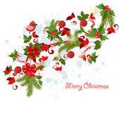 Design a Christmas greeting card — Stock Vector