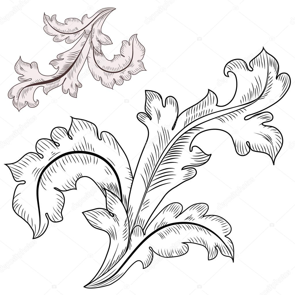 Baroque design elements stock vector oksana 17877657 for Baroque architecture elements
