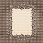 Vintage frame for your design — Stock Vector