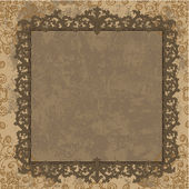 Vintage frame in the Baroque style — Stock Vector