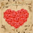 Vector de stock : Valentine card with Cupids