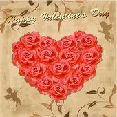 Cartolina di san valentino con amorini — Vettoriale Stock
