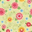 Stock Photo: Flower texture seamless