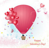 Valentine's Day with a balloon for your design — Stock Photo