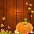 Royalty-Free Stock Vektorov obrzek: Autumn still life with pumpkin for your design
