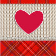 Knitted fabric for Valentine — 图库矢量图片