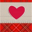 tricot pour la Saint-Valentin — Vecteur