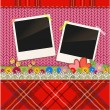 Scrap holiday vintage set of photo frames — Vector de stock
