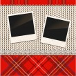 Scrap holiday vintage set of photo frames — Stock Vector