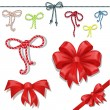 Set of celebratory bows — Stock Vector