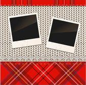 Scrap holiday vintage set of photo frames — Stock Vector