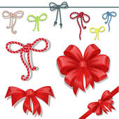 Set of celebratory bows — Stock Vector