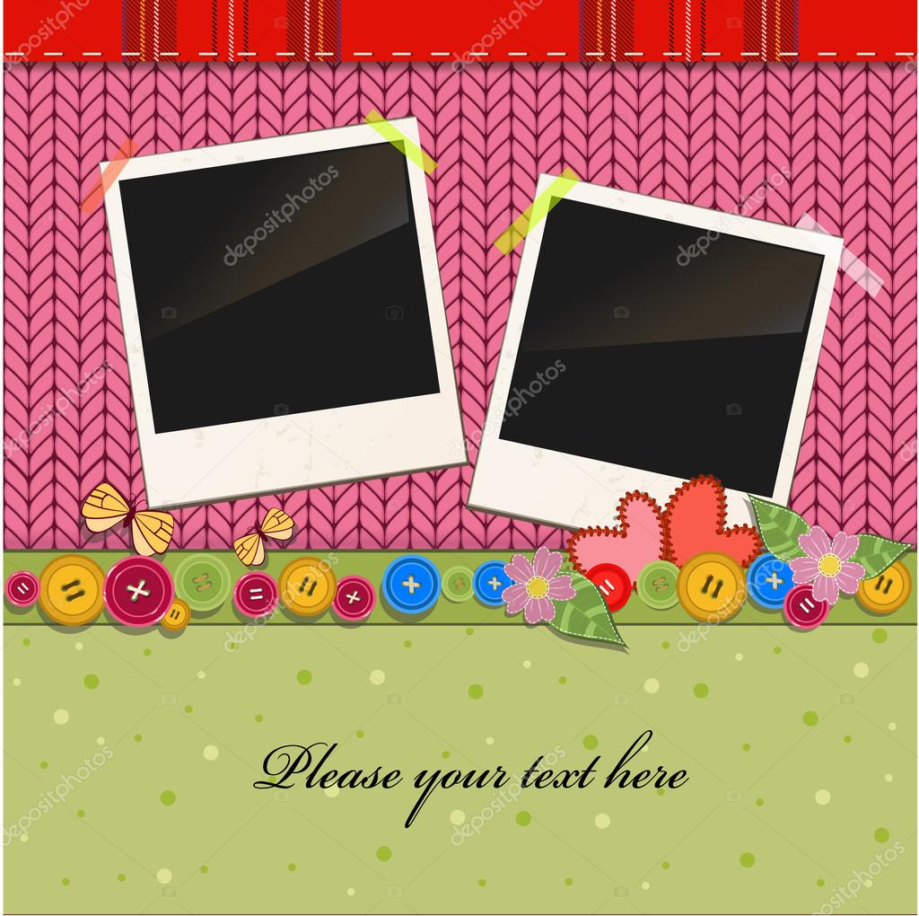 Scrap holiday vintage set of photo frames — Stock Vector #20825857