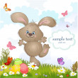 Royalty-Free Stock Vector Image: Cartoon happy rabbit for Easter Cards