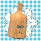Don de la planche à découper sur la nappe — Vecteur