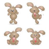 Cartoon happy rabbit — Stock Vector